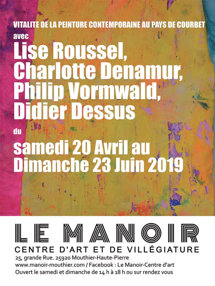 Affiche exposition printemps 2019 Manoir