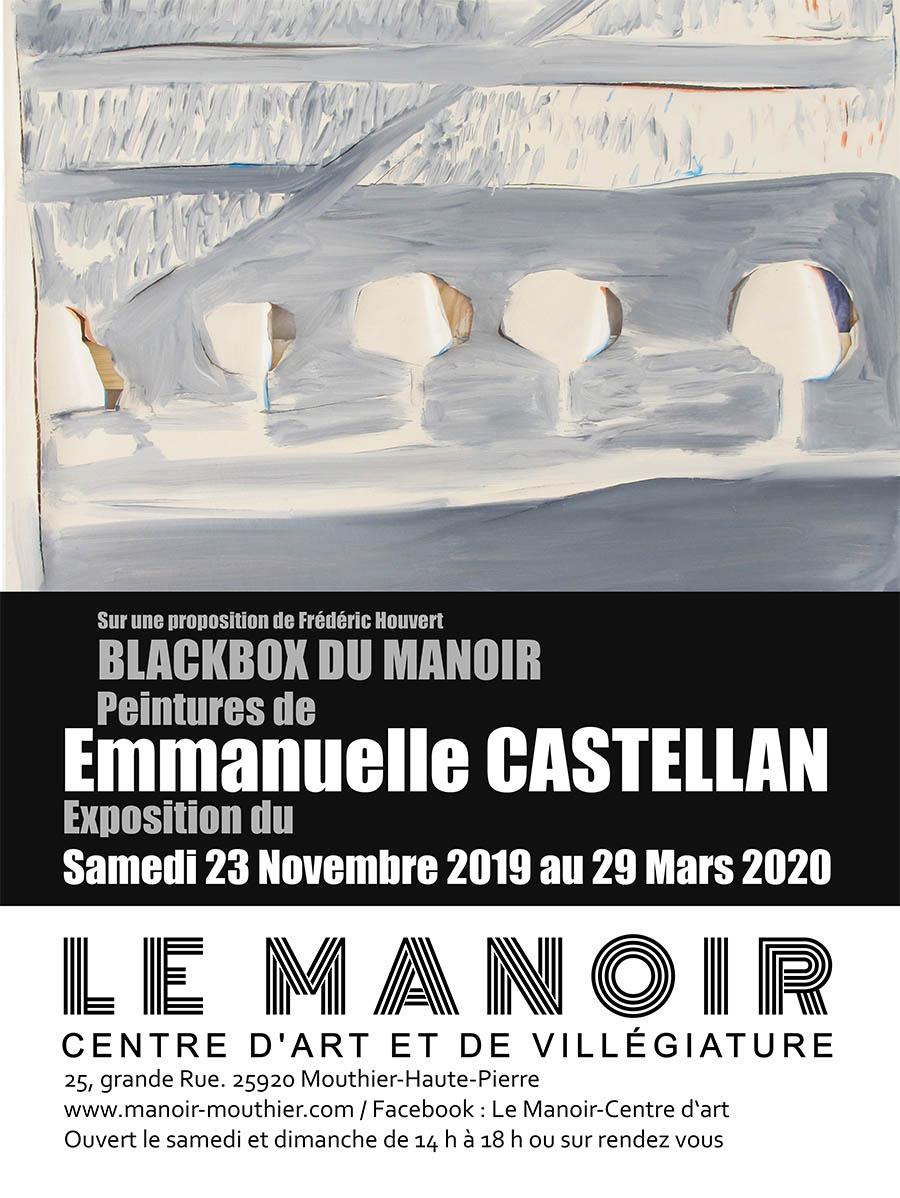 Affiche-exposition-Emmanuelle Castellan - Manoir-Mouthier-Hiver-2019-20
