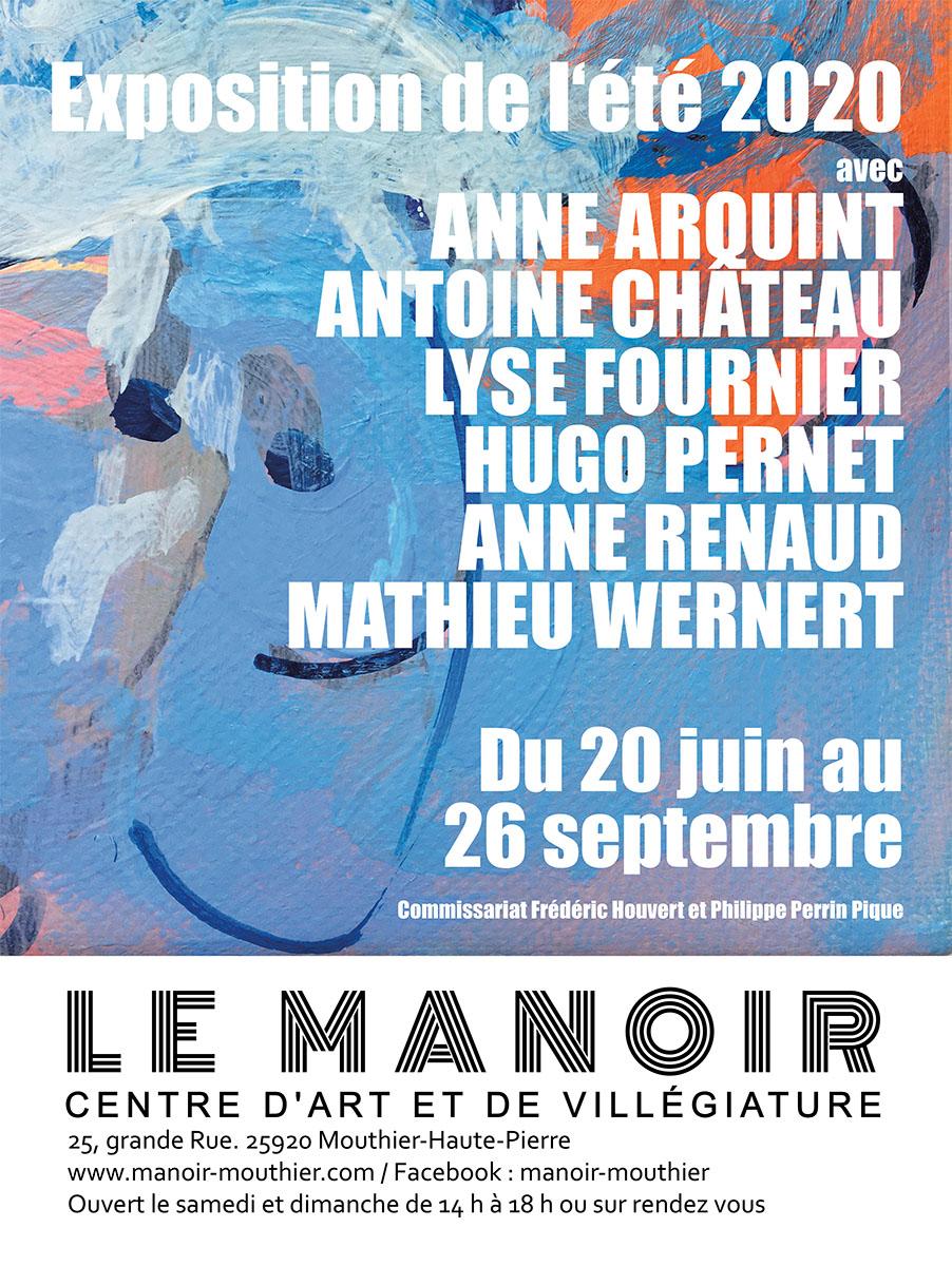 Affiche exposition Manoir-Mouthier été-2020